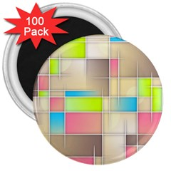 Background Abstract Grid 3  Magnets (100 Pack)