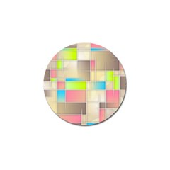 Background Abstract Grid Golf Ball Marker (10 Pack)