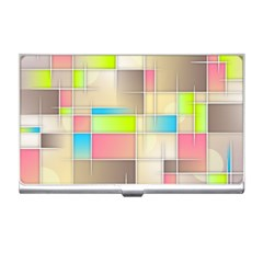 Background Abstract Grid Business Card Holders
