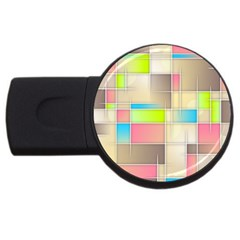 Background Abstract Grid Usb Flash Drive Round (2 Gb)