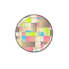 Background Abstract Grid Hat Clip Ball Marker (4 Pack)