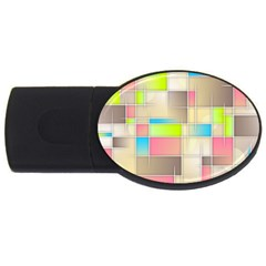 Background Abstract Grid Usb Flash Drive Oval (4 Gb)