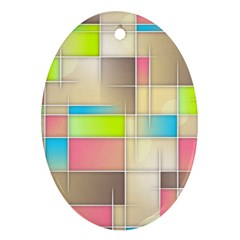 Background Abstract Grid Oval Ornament (two Sides)