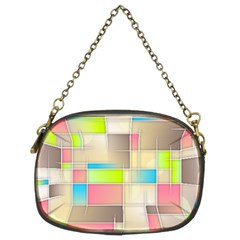 Background Abstract Grid Chain Purses (two Sides)
