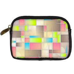 Background Abstract Grid Digital Camera Cases