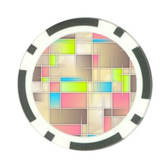 Background Abstract Grid Poker Chip Card Guard (10 Pack)