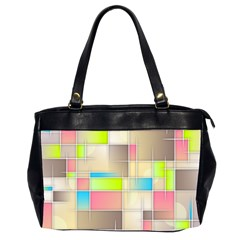 Background Abstract Grid Office Handbags (2 Sides)