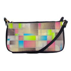 Background Abstract Grid Shoulder Clutch Bags
