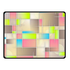 Background Abstract Grid Fleece Blanket (small)