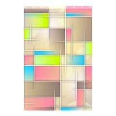 Background Abstract Grid Shower Curtain 48  X 72  (small)