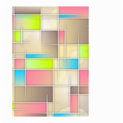 Background Abstract Grid Small Garden Flag (two Sides)