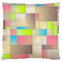 Background Abstract Grid Large Cushion Case (one Side)