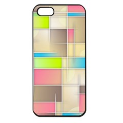 Background Abstract Grid Apple Iphone 5 Seamless Case (black)