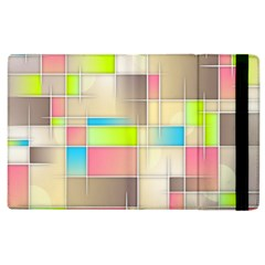 Background Abstract Grid Apple Ipad 2 Flip Case