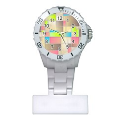 Background Abstract Grid Plastic Nurses Watch