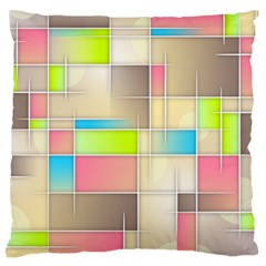 Background Abstract Grid Standard Flano Cushion Case (one Side)
