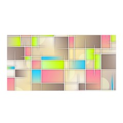 Background Abstract Grid Satin Wrap