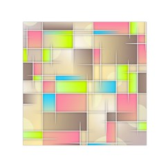Background Abstract Grid Small Satin Scarf (square)