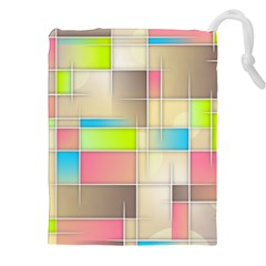 Background Abstract Grid Drawstring Pouches (xxl)