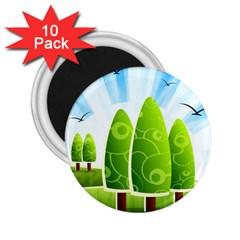 Landscape Nature Background 2 25  Magnets (10 Pack)