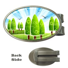 Landscape Nature Background Money Clips (oval)