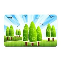 Landscape Nature Background Magnet (rectangular)