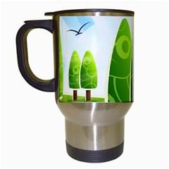 Landscape Nature Background Travel Mugs (white)