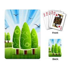 Landscape Nature Background Playing Card