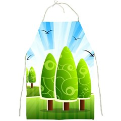 Landscape Nature Background Full Print Aprons