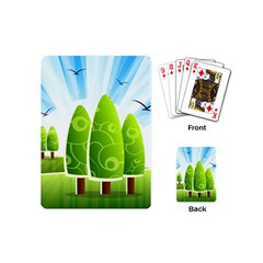 Landscape Nature Background Playing Cards (mini)