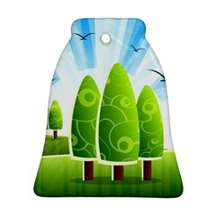 Landscape Nature Background Bell Ornament (two Sides)
