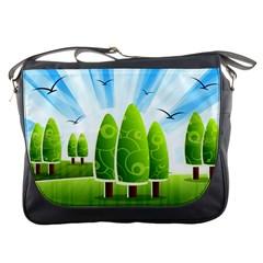 Landscape Nature Background Messenger Bags