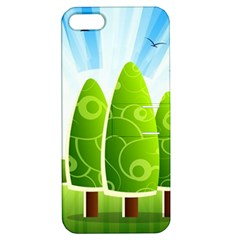 Landscape Nature Background Apple Iphone 5 Hardshell Case With Stand