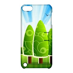 Landscape Nature Background Apple Ipod Touch 5 Hardshell Case With Stand