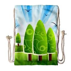 Landscape Nature Background Drawstring Bag (large)