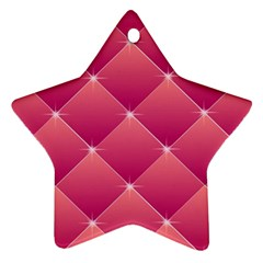 Pink Background Geometric Design Star Ornament (two Sides)