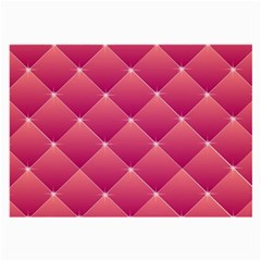 Pink Background Geometric Design Large Glasses Cloth