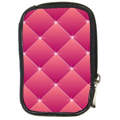 Pink Background Geometric Design Compact Camera Cases