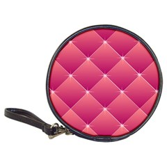 Pink Background Geometric Design Classic 20 Cd Wallets