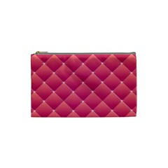 Pink Background Geometric Design Cosmetic Bag (small)