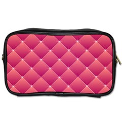 Pink Background Geometric Design Toiletries Bags