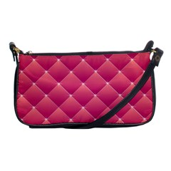 Pink Background Geometric Design Shoulder Clutch Bags