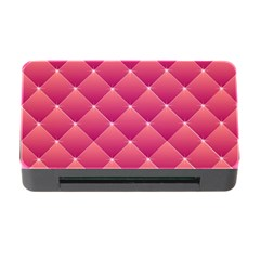 Pink Background Geometric Design Memory Card Reader With Cf