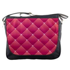 Pink Background Geometric Design Messenger Bags