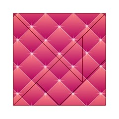 Pink Background Geometric Design Acrylic Tangram Puzzle (6  X 6 )