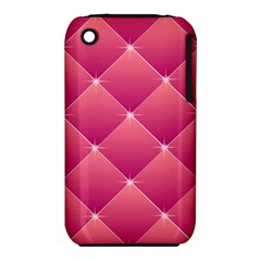 Pink Background Geometric Design Iphone 3s/3gs