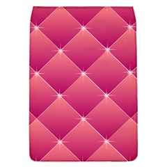 Pink Background Geometric Design Flap Covers (l)