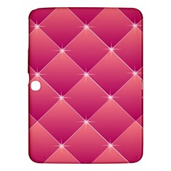 Pink Background Geometric Design Samsung Galaxy Tab 3 (10 1 ) P5200 Hardshell Case
