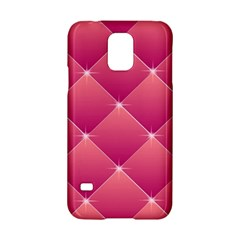 Pink Background Geometric Design Samsung Galaxy S5 Hardshell Case