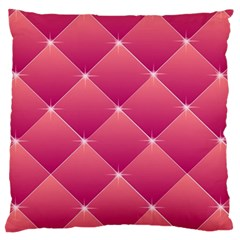 Pink Background Geometric Design Standard Flano Cushion Case (two Sides)
